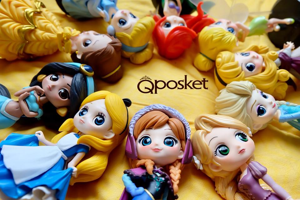 Q posket thailand collector ขาย ราคา ซื้อ รีวิว ประเภท ไลน์ Disney Banpresto Princess เจ้าหญิง